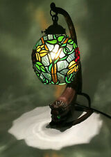 Cat Art Stained Glass Table Desk Lamp Night Light eyes light up Beautiful