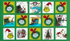 HOW THE GRINCH STOLE CHRISTMAS FABRIC PANEL