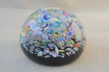 """SCOTTISH PERTHSHIRE """" DOUBLE MILLEFIORIE  """" CRYSTAL GLASS DESK  PAPERWEIGHT"""