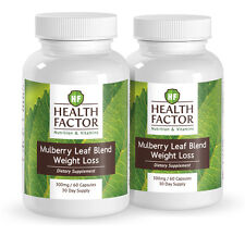 Health Factor Mulberry Leaf Extract Blend, Powerful Weight Loss (2 Bottles)