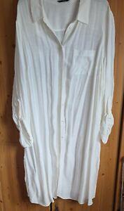 Extra Long Off White Ladies Shirt ize 22