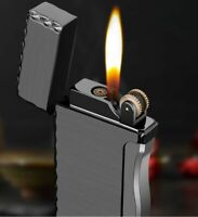 Cigarette Cigar Lighter Torch Double Flame Butane Gas Windproof Metal Lighters