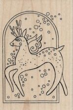"""Reindeer Spirit"" Rubber Stamp by Stampendous"