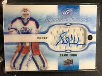 15-16 UD ICE GRANT FUHR SIGNATURE SWATCHES Game Used AUTO JERSEY RELIC Patch