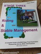 STAGE 3 RIDING AND STABLE MANAGEMENT