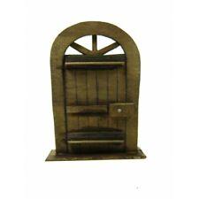 Portone in Legno Cm 8x11h con Porta Apri/Chiudi Casa Scenografia Presepe