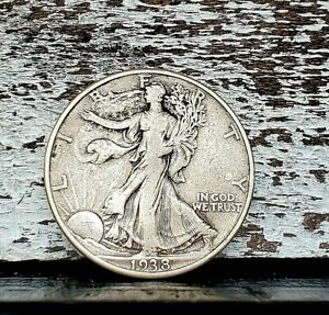 1938-D Silver Walking Liberty Half Dollar Coin Key Date. #265
