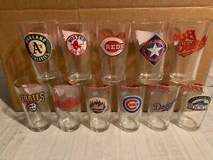 MLB Assorted Teams 16oz Budweiser Glass Mug Brand New