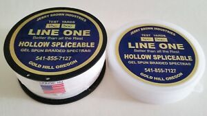 """Jerry Brown """"Hollow"""" Braid Line One Spectra 60 lb to 130 lb"""