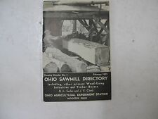 Ohio Sawmill Directory Timber Wood Industries Wooster 1952 Sawmills Mills