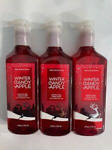 3 Bath & Body Works Winter Candy Apple Gentle Gel Hand Soap 8 FL OZ