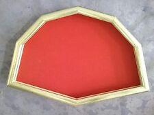 Cornice ventagliera in legno argentato cm.52x34