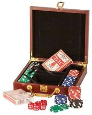 100 Count Poker Chip set in a Personalize case with Cards and Dice