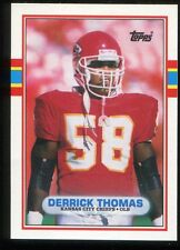 1989 Topps Traded Derrick Thomas #90T RC ROOKIE Kansas City Chiefs