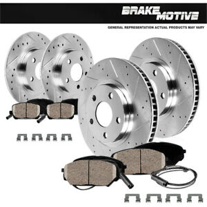 For 1996 - 2002 BMW Z3 FRONT & REAR Drilled Slotted Brake Rotors & Ceramic Pads