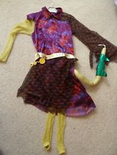 Jinafire Monster High Fancy Dress Costume Halloween Child Kids Outfit size 8-10