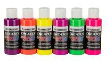Createx Classic Aerografo colore 6 x 60ml fluorescente Set