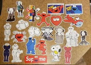 "Kaws Stickers 23 Piece Set Large 3-5"" BFF Companion Sesame Street"