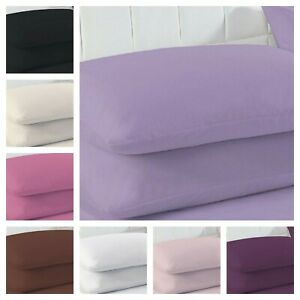 2 x Pillow case Easy Iron Percale Plain Dyed 100% Poly Cotton Housewife Covers