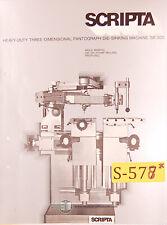 Scripta Sr300 Pantograph Copy Mill Instructions Parts And Wiring Manual