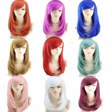Nouveau Mode Cosplay Perruque Longue Droite Raide Deguisement Femmes Parti Wigs