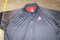 NWT Majestic Cool Base Atlanta Braves MLB Baseball Polo Shirt Blue Men's 3XL