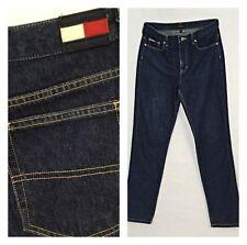TOMMY GIRL HILFIGER jeans 5 dark wash high rise mom  32 W 34 L flag