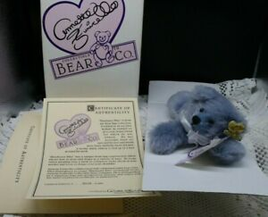 """Annette Funicello 6 1/2"""" """"Bluebeary Blitz"""" Bear 088010 with original box"""