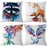 "Splash-ink Fox Cotton Linen Throw Pillow Case Cushion Cover Home Decor 18"""