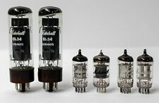 Marshall 12AX7 Quad & EL34 Duet Set of 6 Amplifier Amp Preamp Tubes