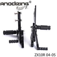 CNC Rearset Rear Set Footrest Peg Pedal Fit For Kawasaki Ninja ZX10R 04-05