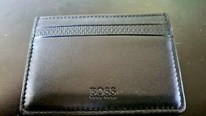 Hugo Boss Leather Card Holder black HB