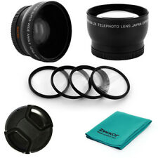 58mm WIDE Angle 0.45x, 2X TELE, MACRO LENS Filter kit for Sony DCR-VX2000, PD170