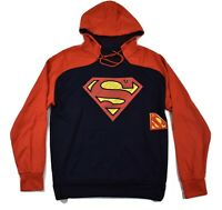 Superman Mens Classic Logo Hoodie New S, M, L, XL