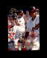 Dennis Martinez Hand Signed 1994 Flair Cleveland Indians Autograph