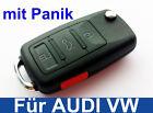 3t LLAVE PLEGABLE CON pánico para Volkswagen Audi Vw Skoda Seat