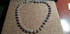 Touchstone Crystal by Swarovski Crystal Aurore Boreale Glitz Necklace Pre Owned