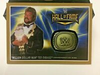 """2016 TOPPS WWE """"HALL OF FAME"""" TED DIBIASE COMMEMORATIVE RING GOLD #10/10= 1/1!"""