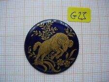 Petit médaillon émail Belier émaillé bijoux montre enamel zodiaque p23