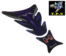 BLUE MOTORCYCLE DECAL STICKER FUEL TANK PAD: HONDA CBR 600RR 900RR 929RR 1000RR