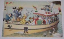 "ALFRED MAINZER Postcard ""Cats on a Yaht"" Unused Mint-- Unsigned Mint"