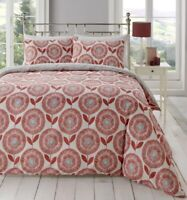 Floral Ada Scandi Spice Pink with Grey Reverse Duvet Covers by Fusion