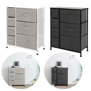 7 Drawer Fabric Dresser Chest Tower Clothes Storage Modern Bedroom Cabinet USA