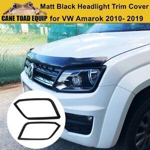 Matt Black Head Light Trim Cover to suit Volkswagen VW Amarok 2010-2020