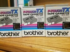 3 NEW Brother P-TOUCH TAPE LABEL CARTRIDGE TX-3341 GOLD ON BLACK 50 FT 1 INCH