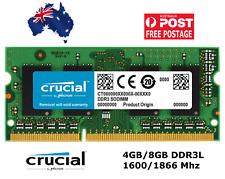 Crucial 4GB 8GB 16GB DDR3 Laptop RAM PC3L Notebook Memory SoDimm 1600 1866 1.35V