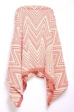 Peach & Cream Geometrical Print Soft Blanket Feeling Full Coverage Scarf (S127)