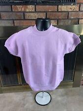 Vintage Crewneck Sweatshirt Pink Raglan VTG USA 80s Youth Large Bassett Walker