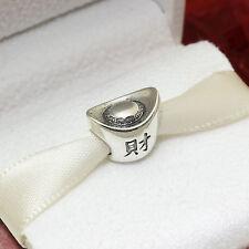 * Authentic Pandora Chinese Ingot Wealth and Prosperity Charm 791300 Retired