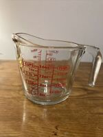 Vintage Anchor Hocking Glass 2 Cup Measuring Cup ~ #698 ~ Preowned ~ VG